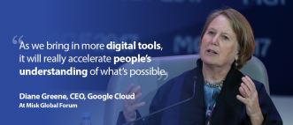 Diane Greene at Misk Global Forum